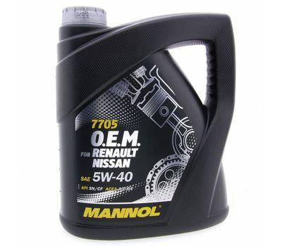 Масло Mannol 7705 RENAULT NISSAN 5w40 синт. метал. 4 л.