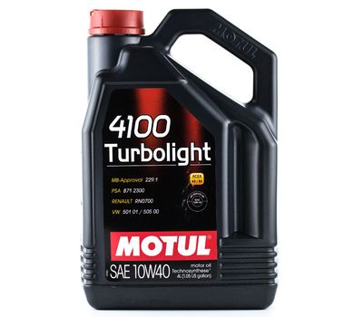 Масло MOTUL 4100 Turbolight 10W40 п/с 4 л.